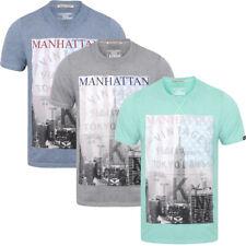 Tokyo Laundry Homme Contraste Raglan Manche Burn Out T-shirt avec New York collegi