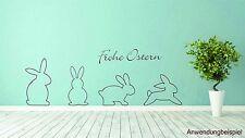 Osterhasen Frohe Ostern Wandtattoo Wandbild Aufkleber Folie Walltattoo #7787