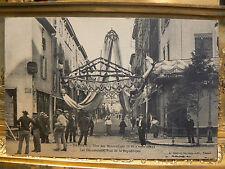 cpa 69 tarare fete des mousselines 1911 les decorations rue de la republique