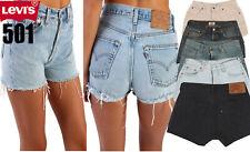Grado A Levis 501 pantalones de mezclilla de la alta cintura pantalones cortos para mujer jeans 8 10 12 14 16
