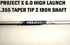 Rifle Project X HL Single 2 IRON Shaft 6.0 STIFF+355 Taper Tip tip chrome Steel