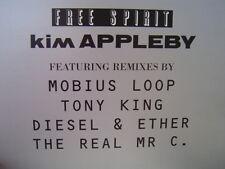 """KIM APPLEBY  FREE SPIRIT 12"""" UK IMPORT 1994 TONY KING MOBIUS LOOP DIESEL & ETHEL"""