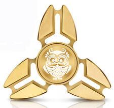 Fidget Spinner Tri-Spinner Aluminum Metal Owl Vintage