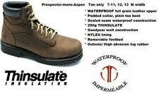 New Men's Prospector ASPEN tan leather hiking boots