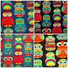 Fabrics Antipiling Polar Fleece Polar Fleece 9484 Clothing Printed Owls
