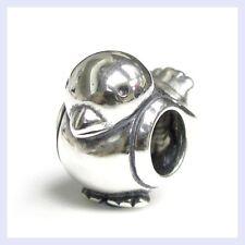 Sterling Silver Lovely Chubby Cute Bird Bead for European Charm Bracelet