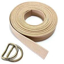 Stoffa cintura Cinture cinghia cotone 30mm D Anelli cintura nastro 100 - 160cm