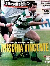 Gazzetta dello Sport Magazine 25 1998 Troncon Rugby Benetton Treviso Scudetto
