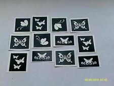 Butterfly themed stencils for glitter tattoos / airbrush   butterflies