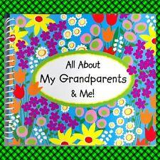 All About My GRANDPARENTS & Me Photo MEMORY Book Scrapbook Album Grandma
