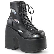 Demonia Gothic Goth Punk Platform Stiefel Plateaustiefel - Camel-201 Fledermaus