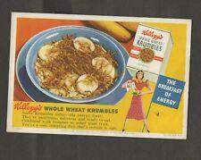 Vintage Blotter For Kellogg's Whole Wheat Krumb