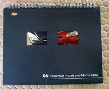 CHEVROLET OFFICIAL IMPALA MONTE CARLO PRESS KIT BROCHURE CD 2006 USA EDITION