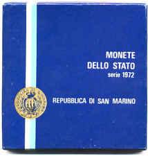 RSM SERIE DIVISIONALE FDC ZECCA 1972 MONETE REPUBBLICA SAN MARINO