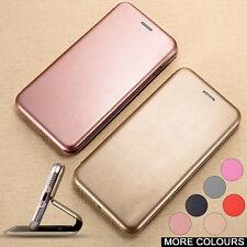 Ranura para tarjeta magnética de cuero Billetera Estuche Cubierta con tapa a prueba de golpes para Samsung