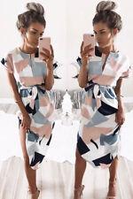 New Women's BOHO Short Maxi Evening Cocktail Party Summer Beach Dress Sundress