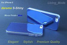 Blue Premium Quality daruma S-Shiny iPhone 5 Stylish Mirror Finish Cover Case