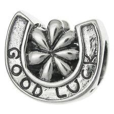 Sterling Silver Good Luck Horseshoe Triumph Bead For European Charm Bracelets