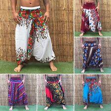 Hippie Bohemio Playa Festival Hippy Holgado Yoga Harén Pantalones Pantalones Mono Floral