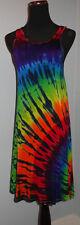 New Hippie Tie Dye Dyed Tank Lightweight Rayon Dress Medium Large XL XXL 2X