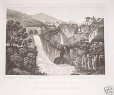 Tivoli Tempel Vesta Tiber Aniene Wasserfall Feng Shui Latium Roma Waterfall