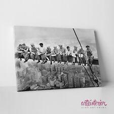 Fotoquadro Stampa HR su tela CANVAS - Uomini sulla trave (Colazione in cielo)