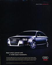 2005 Audi A6 - Autobahn -  Classic Advertisement Ad A46-B