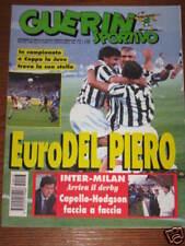 GUERIN SPORTIVO 1995/43 JUVENTUS RANGERS GLASGOW DEL PIERO POSTER NAPOLI CALCIO