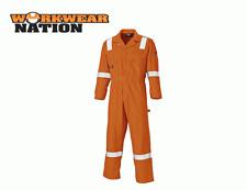 Dickies Cotton Coverall, Reflective Hi Viz Strips, Boiler Suit Orange