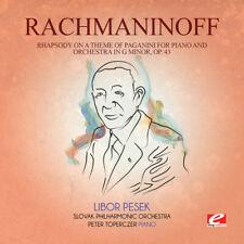 New Rhapsody On Theme Paganini Piano & Orch - Rachmaninoff - Classical Music CD