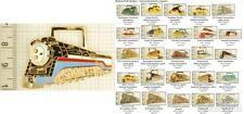 Railroad locomotive decorative fobs, various designs & leather strap options