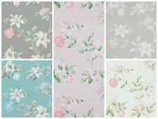 Vlies Tapete Florales Blumen Muster grau rosé creme weiß braun summer breeze