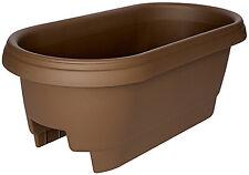 Bloem 477245-1001 Deck Rail Planter, Chocolate, 24-In.