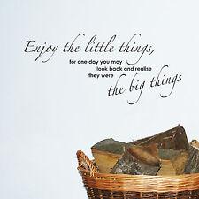 profitez de The Little Things citations murales mots autocollant décoration W20