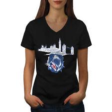 Pitbull England UK Dog Women V-Neck T-shirt NEW | Wellcoda