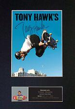 Tony Hawks firmado montado autógrafo impresiones de fotos A4 497