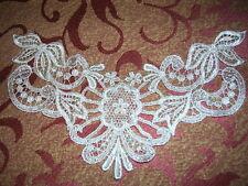 Venice Venise Ivory lace Applique Vintage Choker Yoke Craft Scrapbook #2232