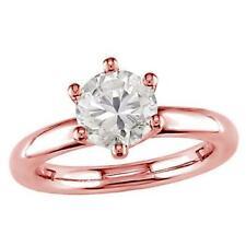 0.35Carat Natural Diamond Solitaire Engagement Ring Six Prong Set 14Kt Rose Gold