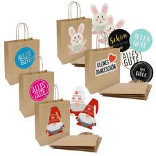 Geschenktüten Papiertüten mit Kordel Griff Kraftpapier braun Geschenktaschen