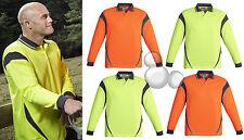 Mens Hi Vis Polo Shirt Size XS S M L XL 2XL 3XL 4XL 5XL 7XL Work Long Sleeve New
