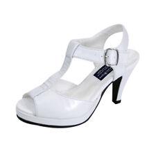 PEERAGE Margie Women Wide Width Peep Toe T-Strap High Heel Platform Dress Sandal
