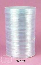 100 Yds RAFFIA WRAPHIA RIBBON SPOOL Roll Pearlized Rayon 1/4 In 18 Colors U Pick