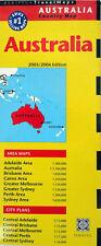 NEW 2006~MAP OF AUSTRALIA~Periplus,w/Details:CntralAdelaide,Bris,Mel,Perth,Sydny