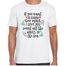 ? desea saber lo mucho que te amo contar las Olas-menst Camisa-Regalo de San Valentín