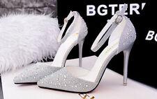 Décollte Scarpe decolte sandali donna tacco 10.5 cm spillo stiletto argento 8655