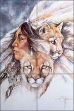 Cougar Tile Mural Taylor Native Animal Art Ceramic Backsplash JTA038