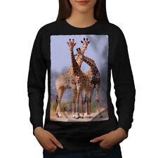 Wellcoda Giraffe Africa Animal Womens Sweatshirt, Africa Casual Pullover Jumper