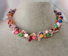 Collana girocollo Madreperla pietre Dure,perle,cristalli da donna,new collezione