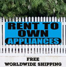 Banner Vinyl RENT TO OWN APPLIANCES Advertising Sign Flag Sale Refrigerator