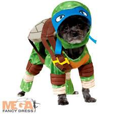 TMNT Leonardo Dog Fancy Dress Superhero Teenage Mutant Ninja Turtles Pet Costume
